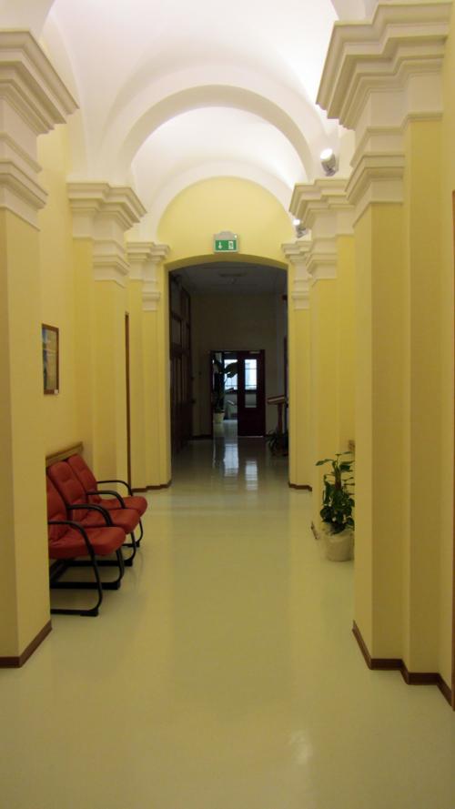 Der Flur des Hospizes in Rijeka
